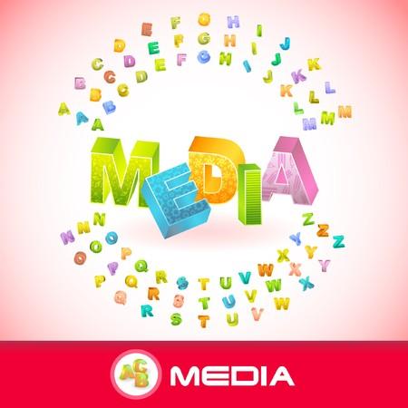 MEDIA. 3d illustration. Vector