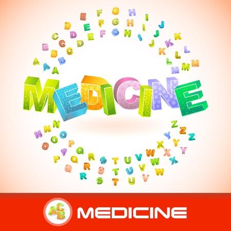 antidote: MEDICINE. 3d illustration. Illustration