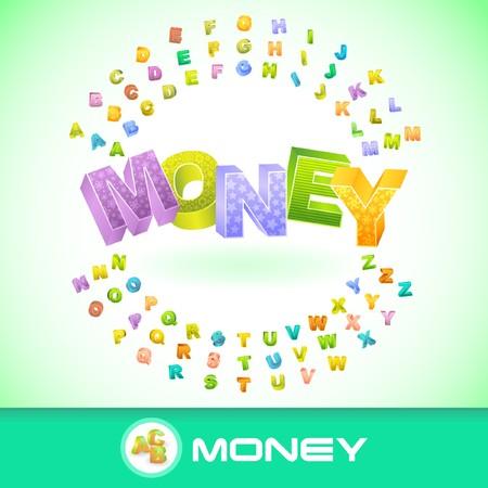 debenture stock: MONEY. 3d illustration.