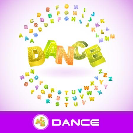 flit: DANCE. 3d illustration. Illustration