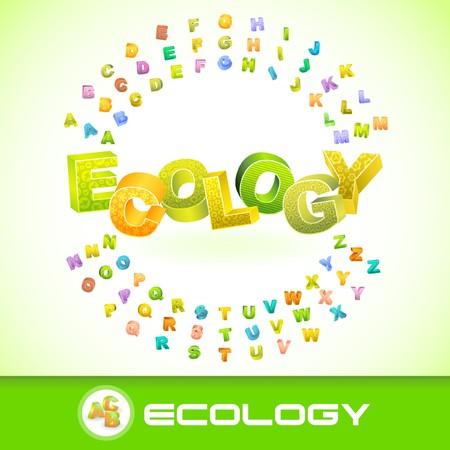 ECOLOGY. 3d illustration. Vector