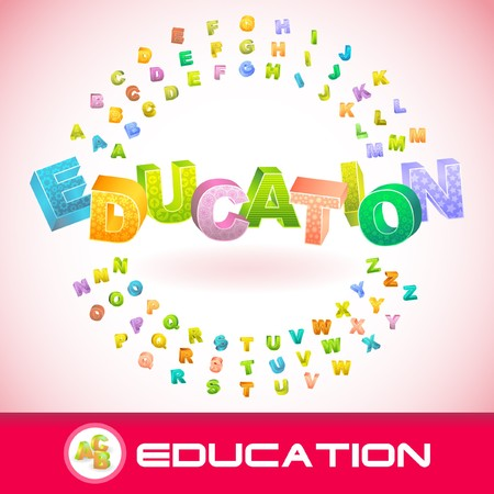 EDUCATION. 3d illustration. Vector