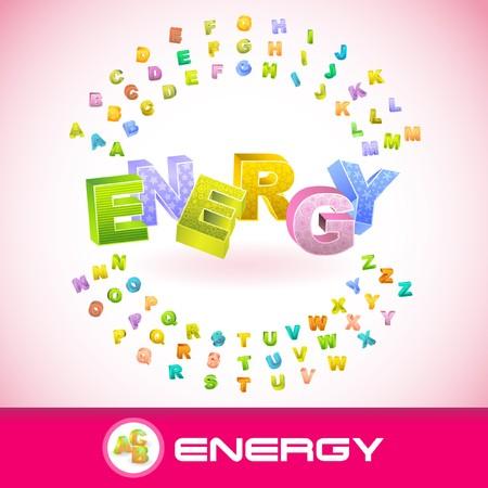 ENERGY. 3d illustration. Vector