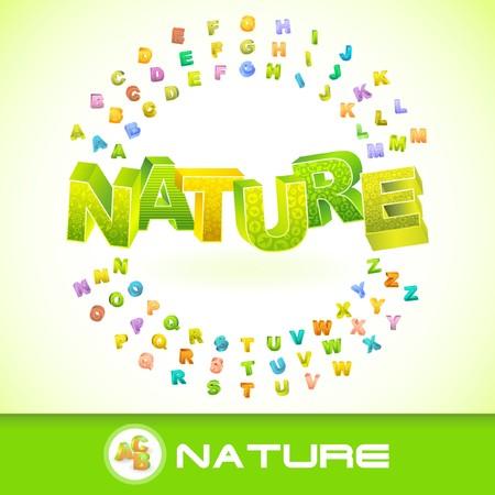 NATURE. 3d illustration. Vector