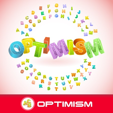 inimitable: OPTIMISM. 3d illustration. Illustration