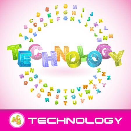 TECHNOLOGY. 3d illustration. Vector