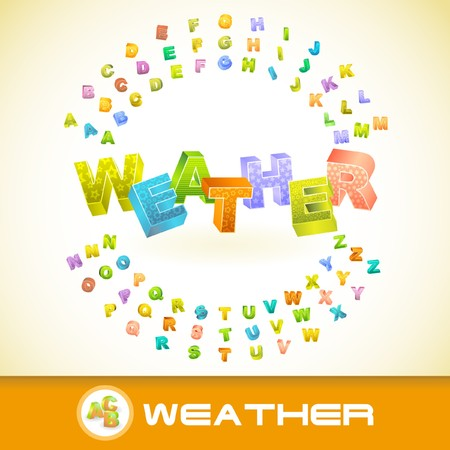 WEATHER. 3d illustration. Vector
