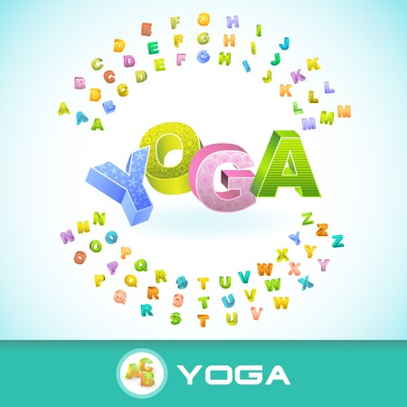 YOGA. 3d illustration. Vector