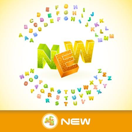 primary product: NEW. 3d illustration. Illustration