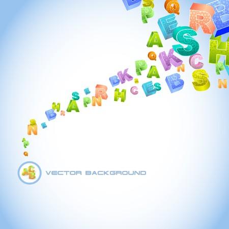 alphabetical letters: Fondo abstracto con mezcla de carta.