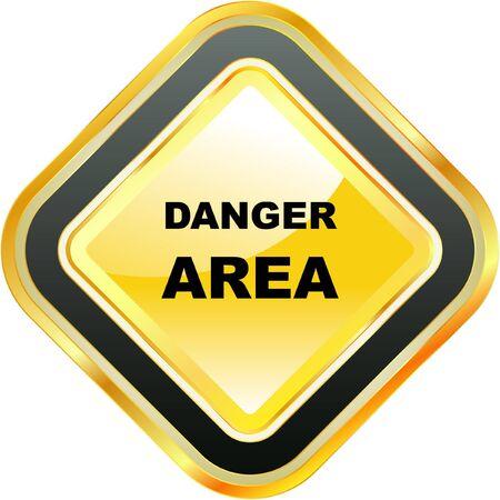 Warning vector label.
