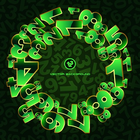 decimal: Abstract background with numbers.   Illustration