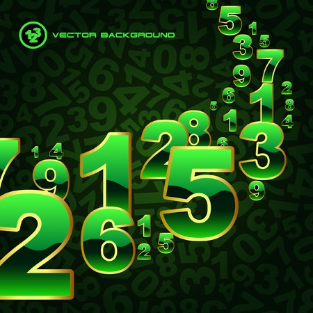 number code: Abstract background with numbers.