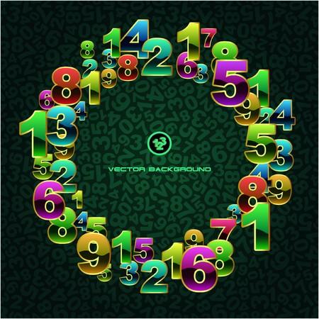 simbolos matematicos: Fondo abstracto con n�meros.