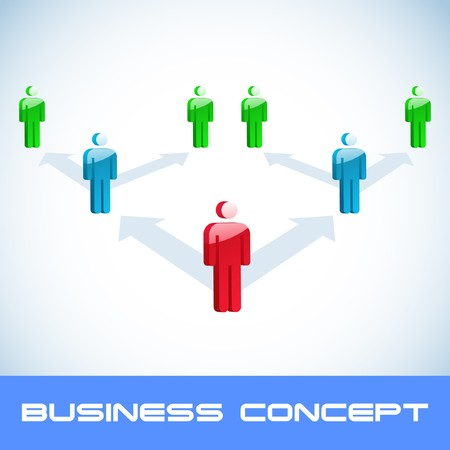 competitors: Network concept.
