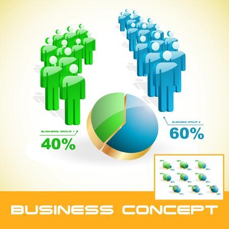 corporate social: Concetto di business.