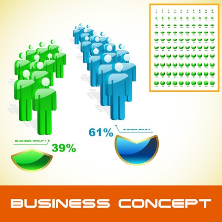 body structure: Business concept. Illustration