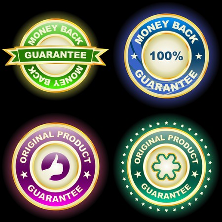 guaranty: Collection of sale labels    Illustration