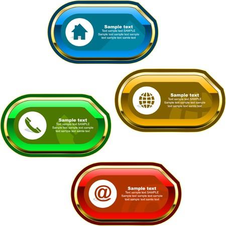 online form: Contact element set for design.   Illustration