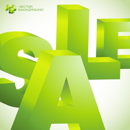 SALE. 3d illustration. Vector