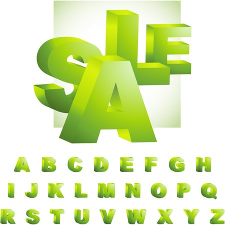 alphabetical letters: Alfabeto para dise�o.
