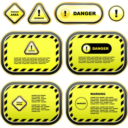 Warning banner set. Stock Vector - 7800714