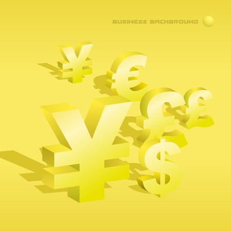 Abstract background with dollar and euro. Vector