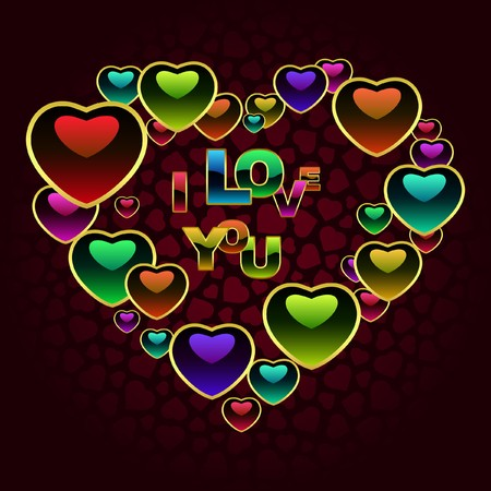Love background. Vector