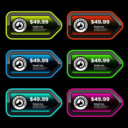 Collection of sale banners Stock Vector - 7819839