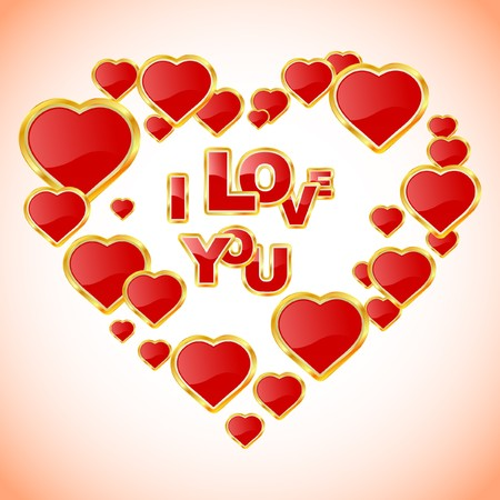Love message. Vector