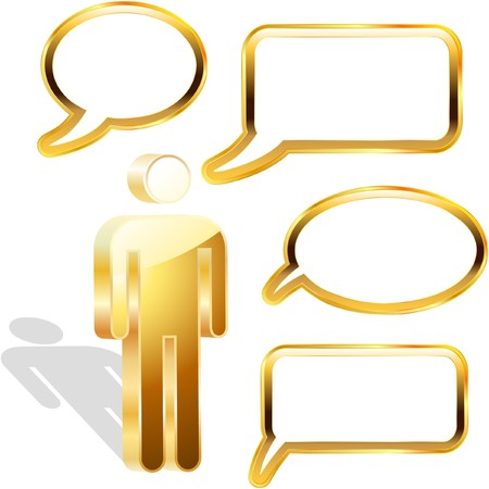 Speech bubble. Stock Vector - 7800891