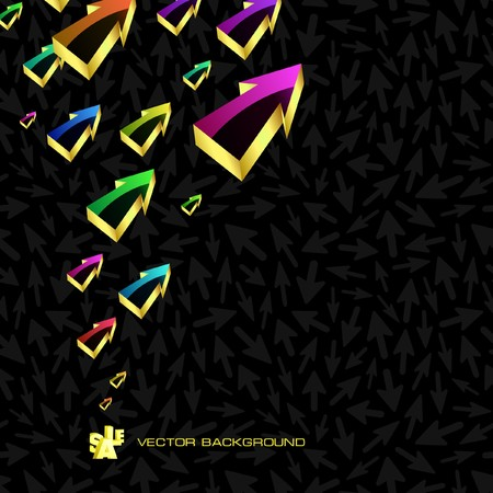 Abstract background with arrow. Vector
