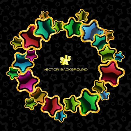 Abstract background with stars. Vector