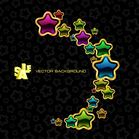 Abstract background with stars. Stock Vector - 7819843