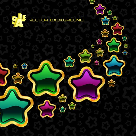 original sparkle: Abstract background with stars.