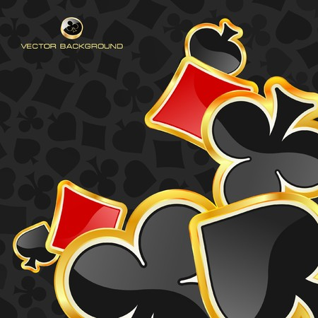 royal flush: Abstract background with notes.