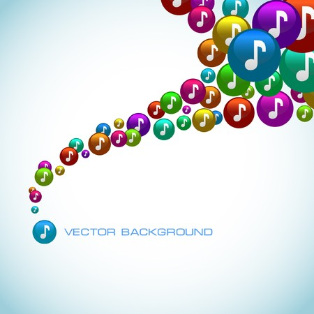 Abstract background with note mix.   Vector