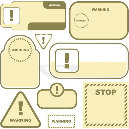 Warning label set. Vector