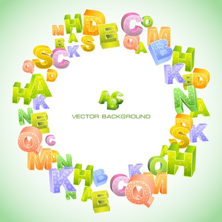 Abstract background with letter mix. Vector