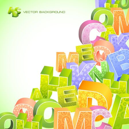 learn english: Abstract background with letter mix.