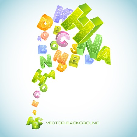 Abstract background with letters. Vector