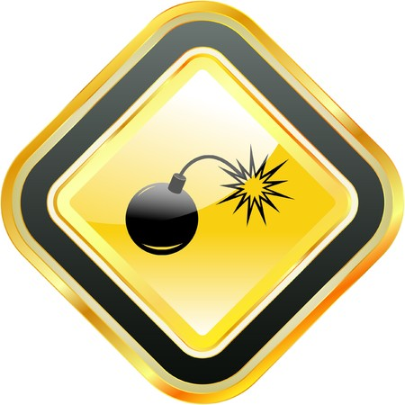 Bomb before explosion.   Stock Vector - 7800566