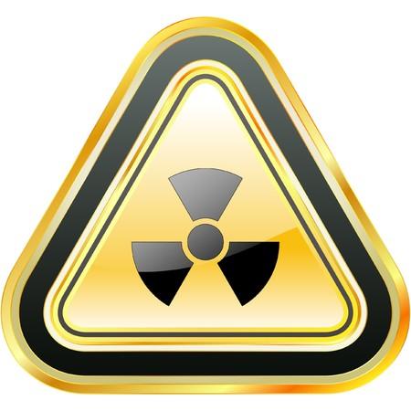 Radioactive icon. Vector