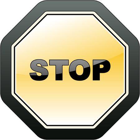 Warning sign. Stock Vector - 7800563