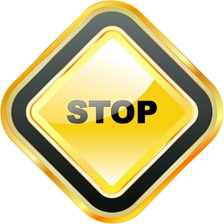 Warning sign. Stock Vector - 7800571