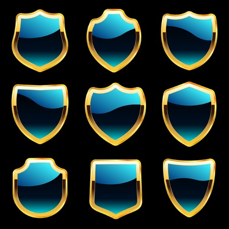 Shield set for design   Vector