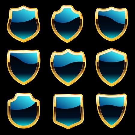 armament: Shield set for design   Illustration