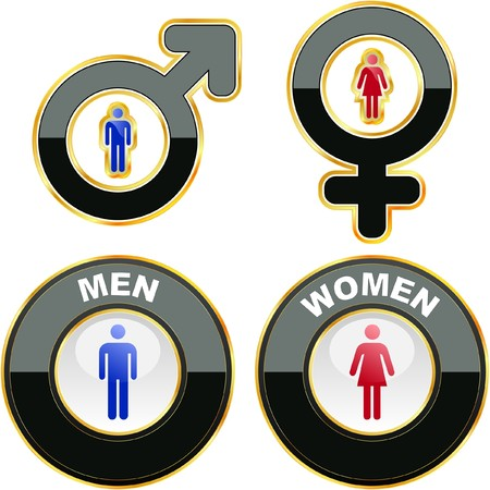 Men and women icons. Graphic elements set.    Stock Vector - 7800897