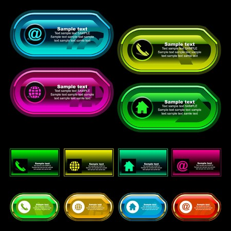 Contact element set for design. Great collection. Vector