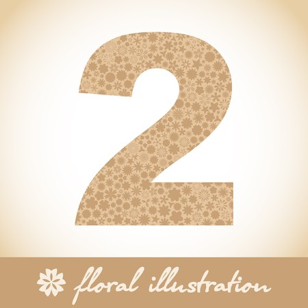 decimal: TWO. Floral illustration.